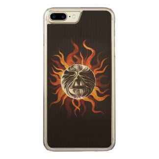 Heart of the sun carved iPhone 8 plus/7 plus case
