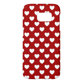 Heart of Weis on red, Polka Dots sample Samsung Galaxy S7 Case