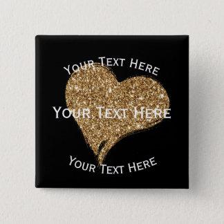 Heart O'Gold 2 Inch Square Button