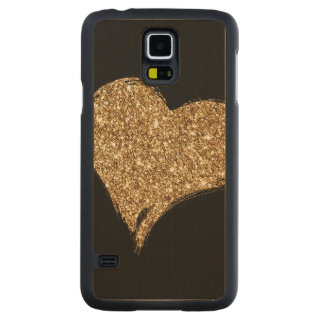 Heart O'Gold Carved Maple Galaxy S5 Case