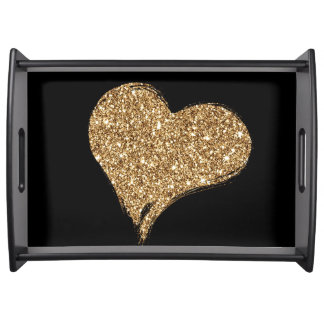 Heart O'Gold Serving Tray