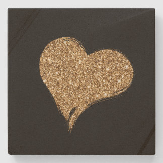 Heart O'Gold Stone Coaster