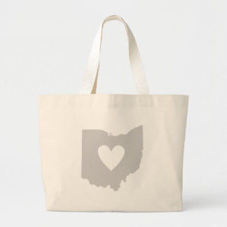 Heart Ohio state silhouette Large Tote Bag