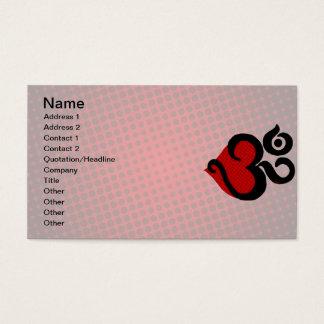 Heart Om Business Cards