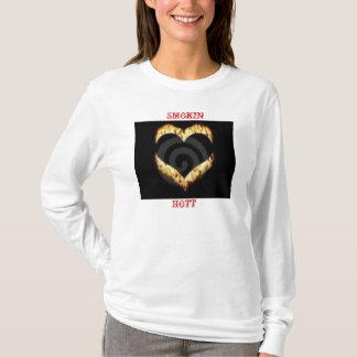 heart on fire, SMOKIN, HOTT T-Shirt