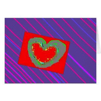 Heart on Pinstripe Card