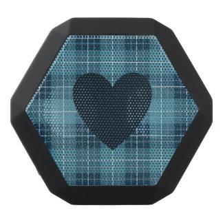 Heart on Plaid Blues Black Bluetooth Speaker