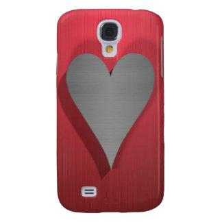 Heart on red / burgundy
