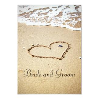 "Heart on the Shore 5"" X 7"" Invitation Card"