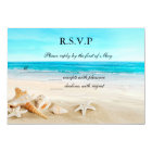 Heart on the Shore Wedding RSVP Card Invitation