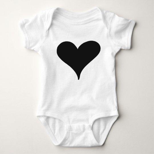 heart onsie baby bodysuit