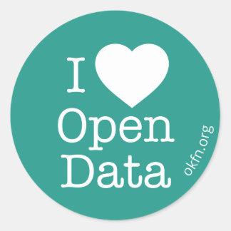 Heart Open Data Stickers