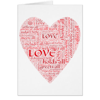 Heart or Valentine honoring unconditional love Card