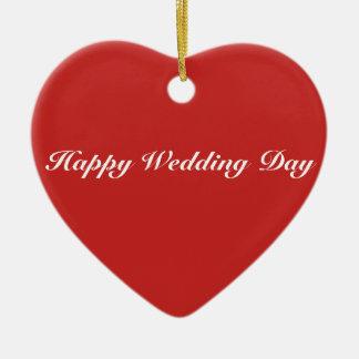 Heart Ornament - Happy Wedding Day