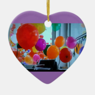 Heart ornament of party balloons