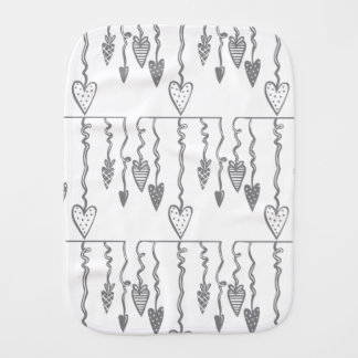 Heart Ornament Burp Cloth