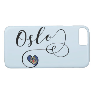 Heart Oslo Mobile Phone Case, Norway iPhone 8/7 Case
