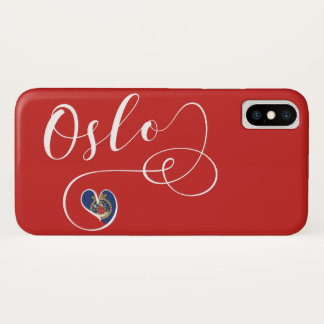 Heart Oslo Mobile Phone Case, Norway iPhone X Case