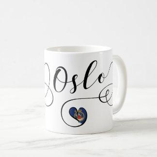 Heart Oslo Mug, Norwegian Coffee Mug
