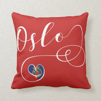 Heart Oslo Pillow, Norway Throw Pillow