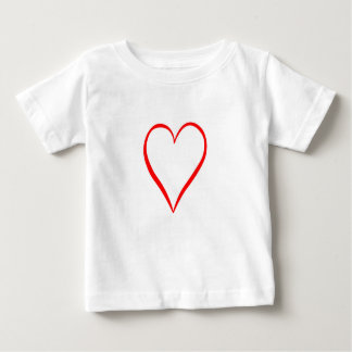 Heart painted on white background baby T-Shirt