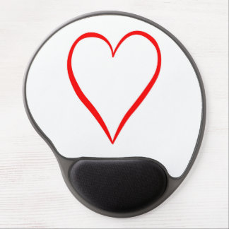 Heart painted on white background gel mouse pad