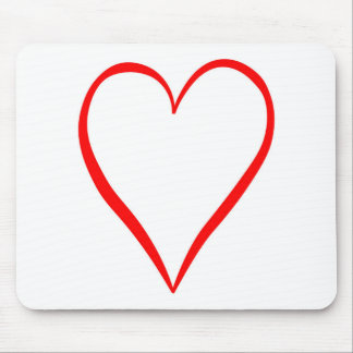 Heart painted on white background mouse pad