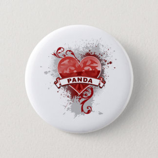 Heart Panda 2 Inch Round Button