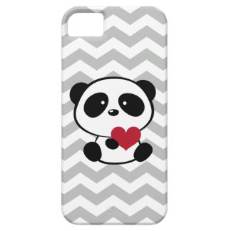 Heart Panda Love Chevron Pattern iPhone 5 Cover