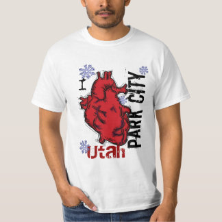 Heart Park City Utah humor tee