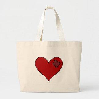 Heart Patch Large Tote Bag
