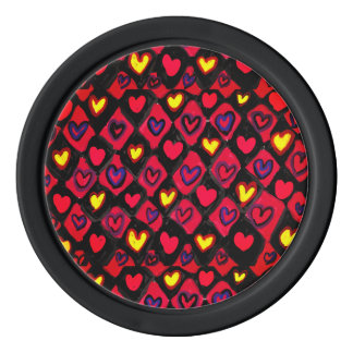 Heart path poker chips