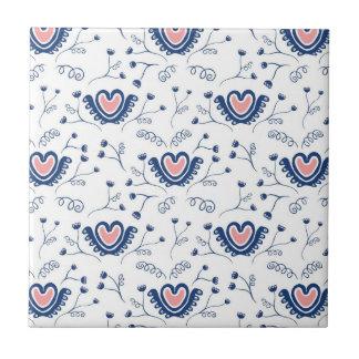 """""""Heart Pattern"""" Ceramic Tiles"""