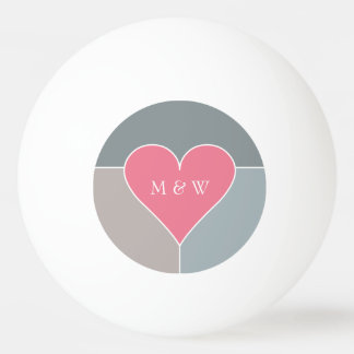 Heart Pattern custom monogram & date balls