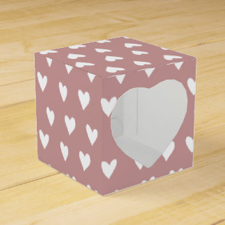 Heart pattern Heart 2x2 Wedding Favor Box