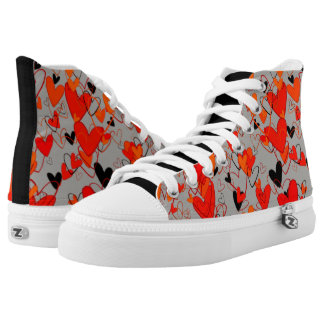 Heart Pattern Love Powerful Intense Dramatic Mess High Tops