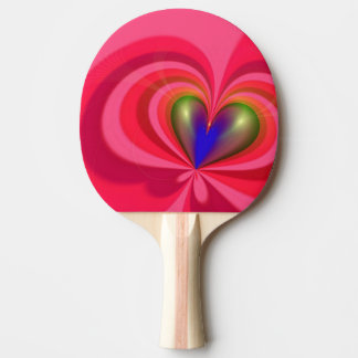 Heart Pattern Ping Pong Paddle