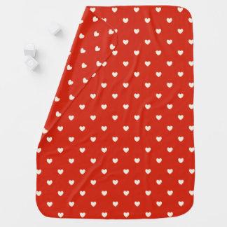 Heart Pattern Stroller Blanket
