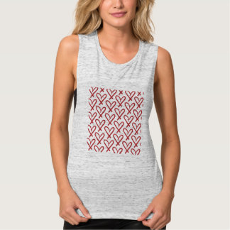 heart pattern tank top