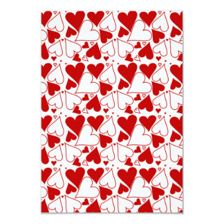 Heart Pattern Valentine's Day Party Invitations