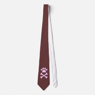Heart Paw & Crossbones Tie