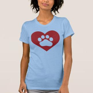 Heart Paw Print T-Shirt