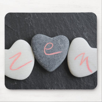 Heart pebbles Zen Mouse Pad