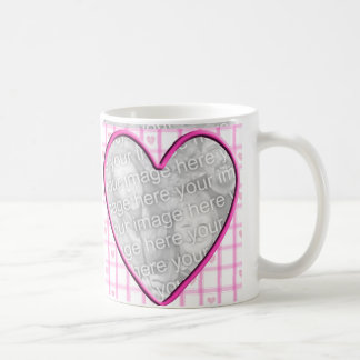 Heart Photo Frame Coffee Mugs