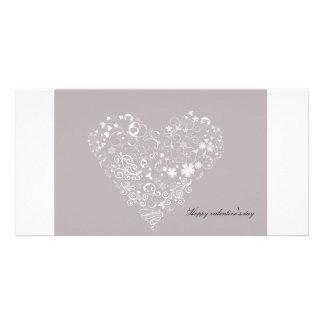 heart photo greeting card