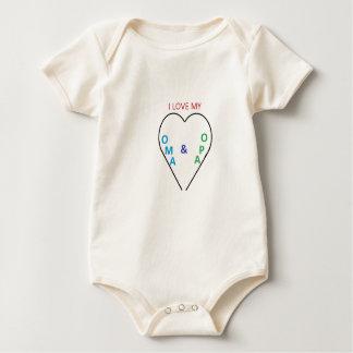 heart pic 2 baby bodysuit