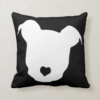 Heart ♥ Pit Bulls Throw Pillow