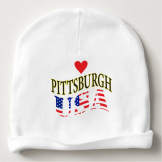 HEART PITTSBURGH USA BABY BEANIE