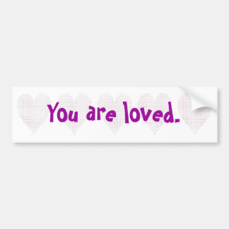 Heart - pointillism, You are loved, bumper sticker