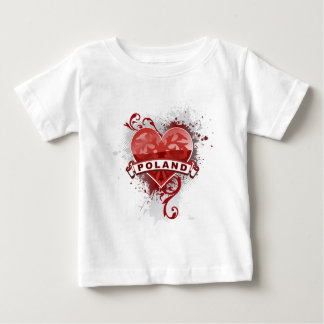 Heart Poland Baby T-Shirt